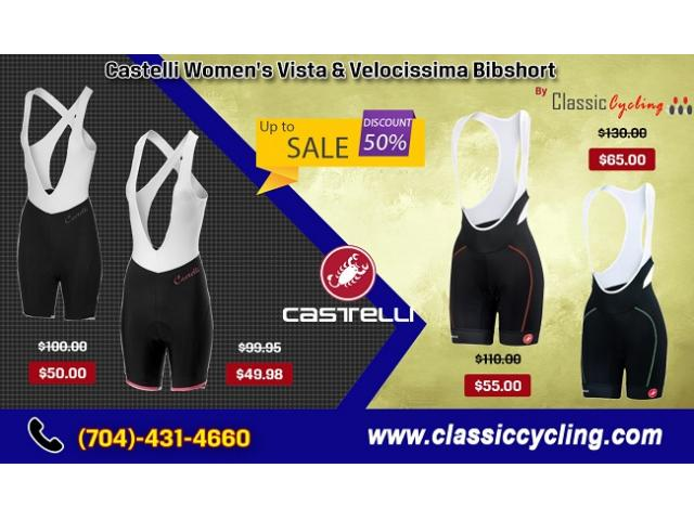 Up to 50% Discount on Castelli Women's Summer Bib Shorts at Classiccycling.com