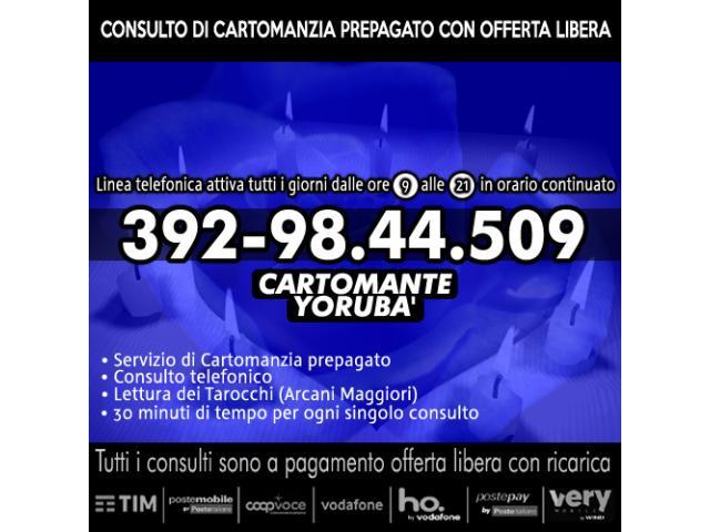 OFFERTA SOTTOCOSTO CON OFFERTA LIBERA RICARICA: LETTURA DEI TAROCCHI CON YORUBA'...IL CARTOMANTE