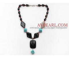 Assorted Black Agate and Alaqueca and Turquoise Necklace is sold at US$ 11.09