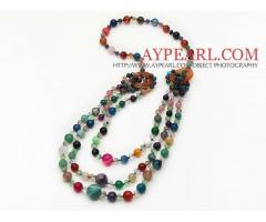 Multi Layer Multi Color and Crystal and Agate Necklace is sold at US$ 13.12