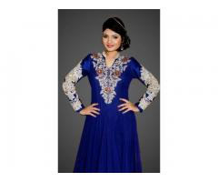 Order Net Anarkali Designer dress online in reasonable rate-fashion1world